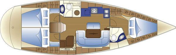 парусная лодка Бавариа 42 Цруисер