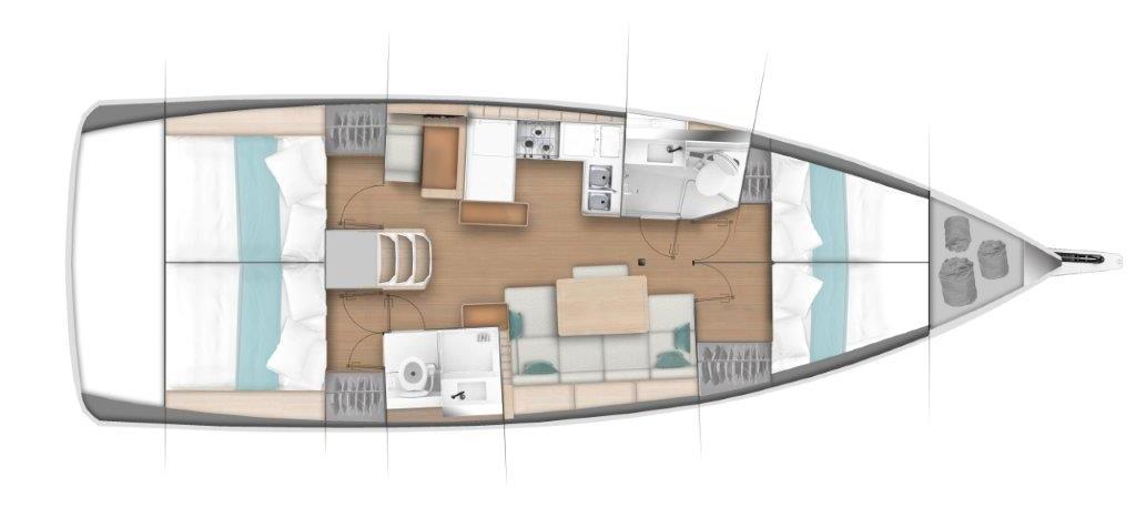 парусная лодка Сун Одыссеы 440