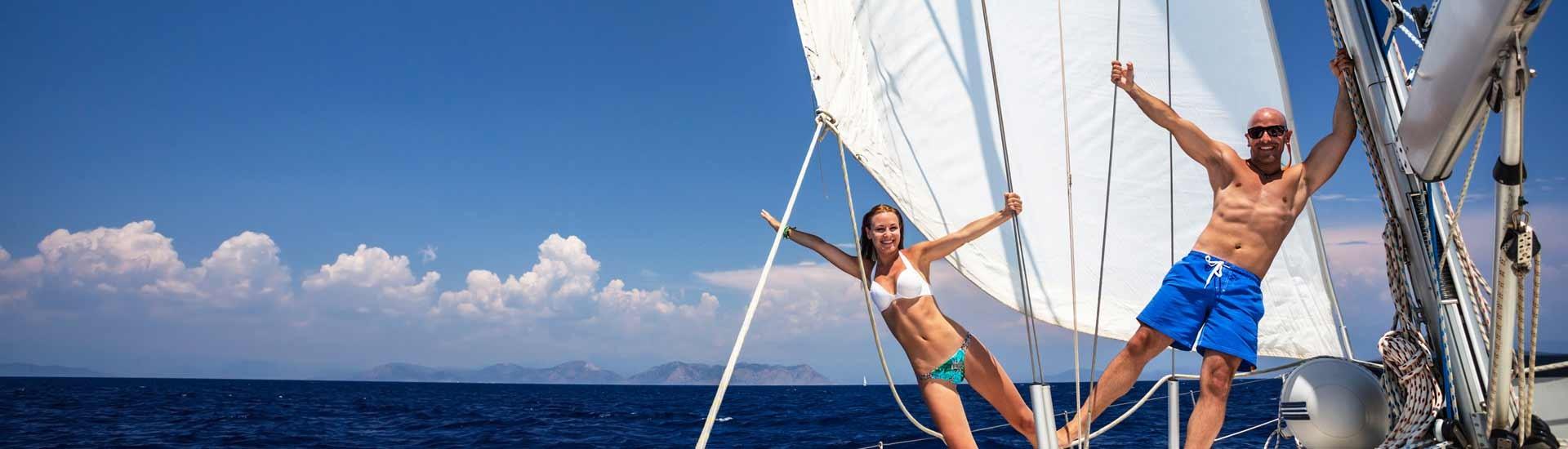 Веселитесь на парусной яхте